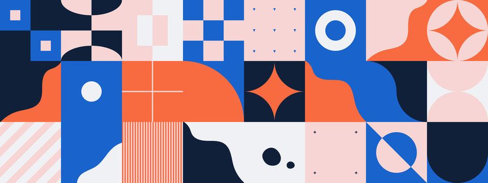 Horizontal Abstract Vector Pattern Design