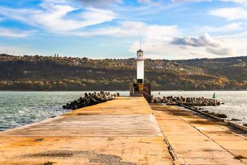 Lighthouse in Sea Port Varna, Bulgaria