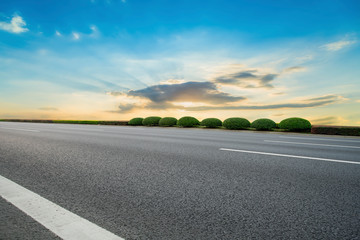 Foto op Aluminium Grijs Road surface and sky cloud landscape..