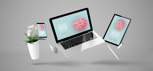 floating devices showing smart responsive website design