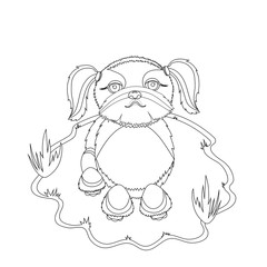 Shih Tzu Dog coloring picture. Cartoon style. Dog illustration. Cute dog vector design. Pets design. Kids design. Coloring book. Printable coloring page for children. Dog coloring page.