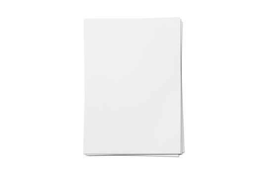 Blank letterheads isolated on white background