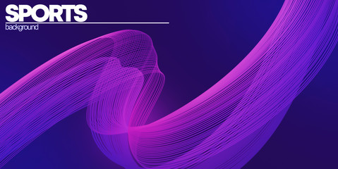Abstract purple background with white sports background inscription