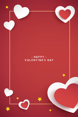 vector valentine's day cards templates