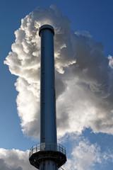 Incinerator chimney in Paris suburb