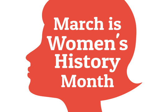 Concept of  Women's History Month. Template for background, banner, card, poster with text inscription. Vector EPS10 illustration.