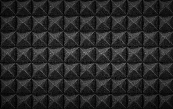 Mousse acoustique noire studio arrière-plan ou texture