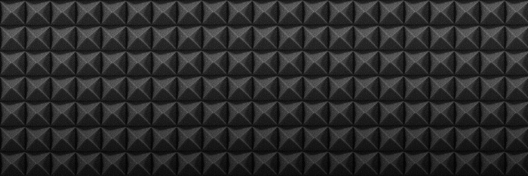 Mousse acoustique studio noire bannière