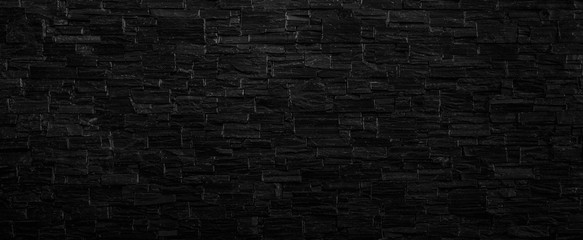 Spoed Foto op Canvas Baksteen muur Old black brick wall texture background,brick wall texture for for interior or exterior design backdrop,vintage dark tone.