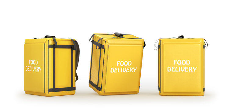 food delivery bag, 3d illustration