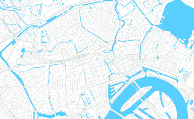 Canvas Prints Rotterdam Rotterdam, Netherlands bright vector map