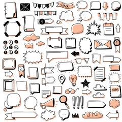 Obraz Bullet journal doodle banners set - fototapety do salonu