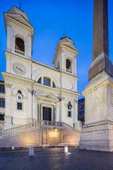 Fototapete - The church of the Santissima Trinita dei Monti, Rome, Italy.