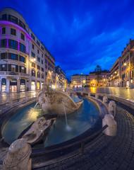 Fototapete - Fontana della Barcaccia in Rome, Italy.