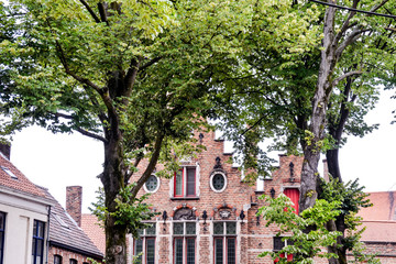 Wall Murals Bridges Classic Architecture European Building Village Brugge
