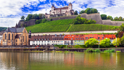 Beautiful medieval Wurzburg town - famous