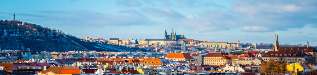 Foto auf Acrylglas Prag panorama of prague at winter