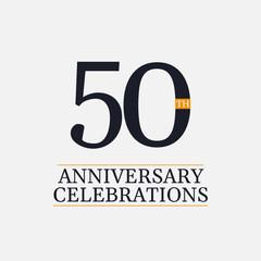 Fototapeta 50 Years Anniversary Celebrations Vector Template Design Illustration