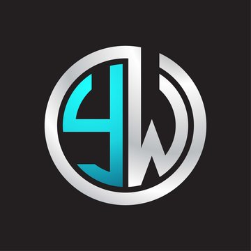 YW Initial logo linked circle monogram