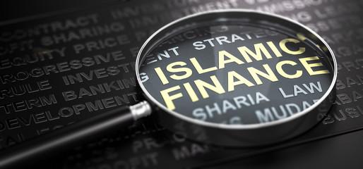 Wall Mural - Islamic Finance or Banking.