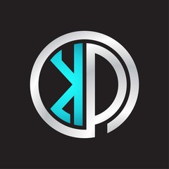 KD Initial logo linked circle monogram