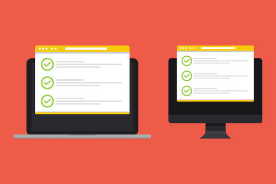 Checklist and checkmarks by email.