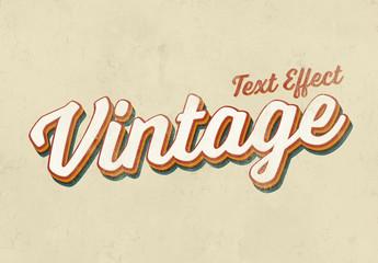 Vintage Text Effect Mockup