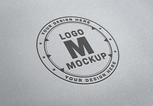 Debossed Paper Pressed Logo Mockup