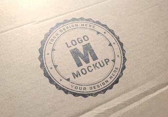 Logo Mockup on Cardboard