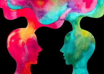 disegno grafico forza del cervello. Telepatia Wall mural