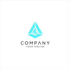 prism light triangle logo symbol logo,   prism logo design inspiration