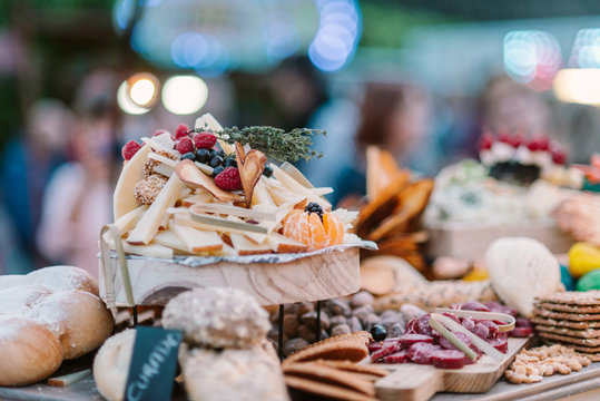 Wedding buffet with canapes and sweets