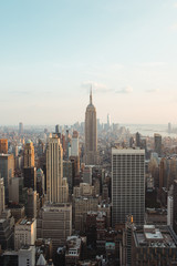 Foto op Aluminium Historisch mon. view and landscape of cityscape of new york