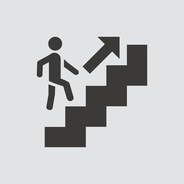 Career ladder icon isolated of flat style. Vector illustration.