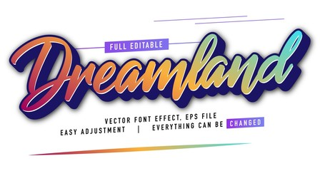 elegant and colorful text effect design, full editable vector, easy to adjust to the needs, full color, modern style and fun Wall mural