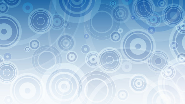 Abstract background with blue and white circles