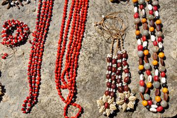 Typical Cuban handmade jewelry souvenir