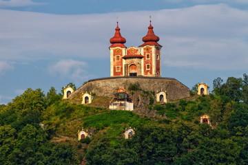 Calvary on Scharffenberg hill in Banska Stiavnica, Slovakia Fototapete