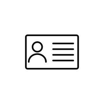 id card icon. line style. Business card icon. Identification card vector