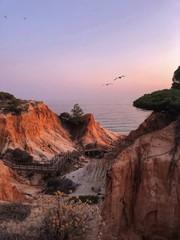 Spoed Foto op Canvas Chocoladebruin sunset in Algarve coast