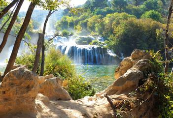 Beautiful Waterfalls of Krka National Park, Croatia
