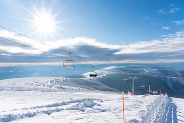 Stuhleck Semmering skiing region during winter
