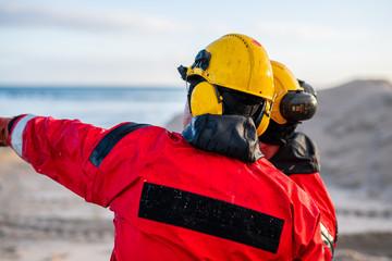 Fototapeta Bezpieczeństwo pracy - BHP- Kask obraz