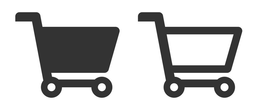 Full and empty shopping cart symbol icon