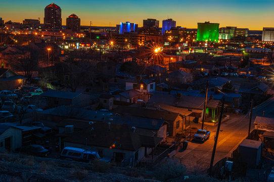 Downtown Albuquerque at Dusk