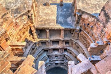 Obraz Rani Ki Vav, an intricately constructed stepwell in Patan - Gujarat, India - fototapety do salonu