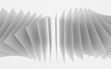 abstract white squares forming a ring structure illustration 3d render illustration