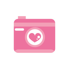 happy valentines day photo camera heart romantic pink design