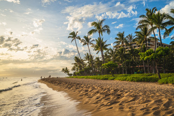 scenery at kaanapali beach in maui island, hawaii