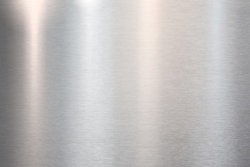 Foto op Plexiglas Metal Fine brushed metal steel or aluminum plate